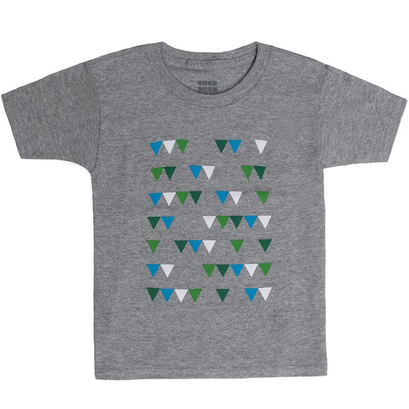 """Детска тениска """"Парти знаменца"""" - Изглед отпред"""