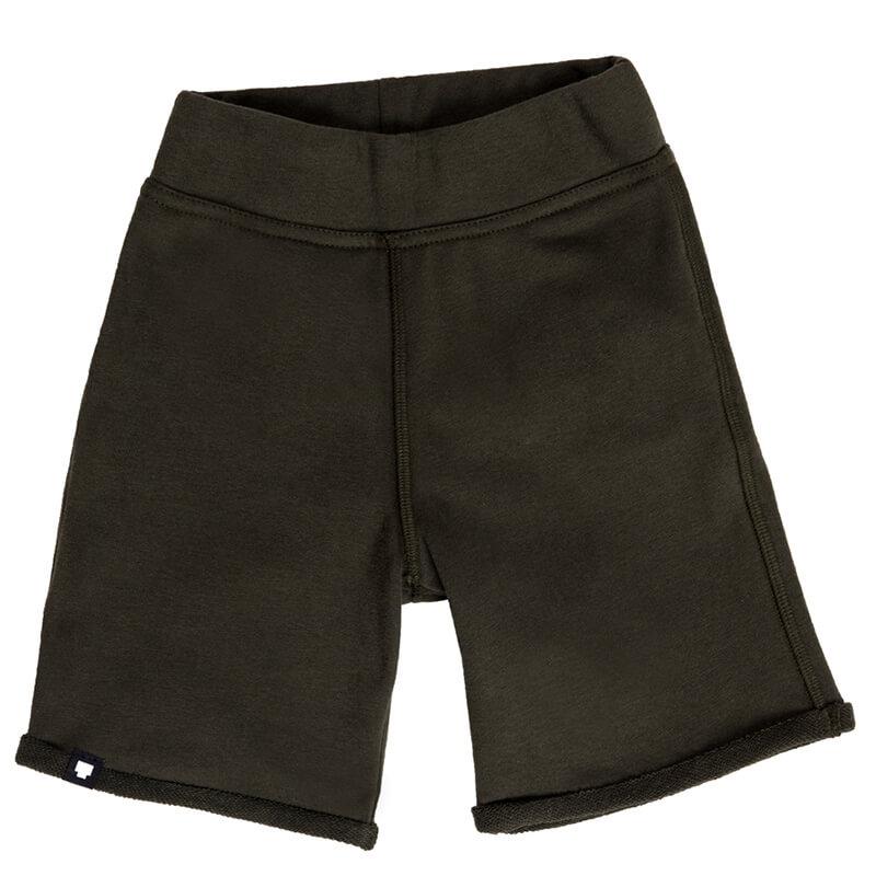 """Детски къси панталони """"Бамбуча"""" от памучна вата, за ежедневна употреба. Имат заден джоб с цветна щампа"""