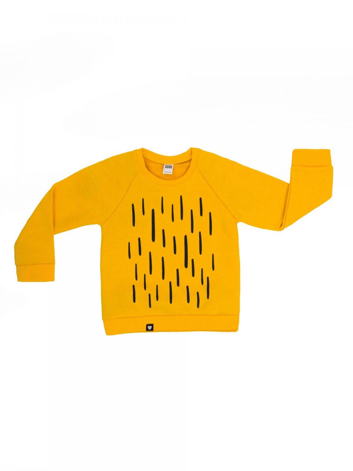 """Детска блузка """"Царят на джунглата"""" в жълт цвят – Тоте Поте"""