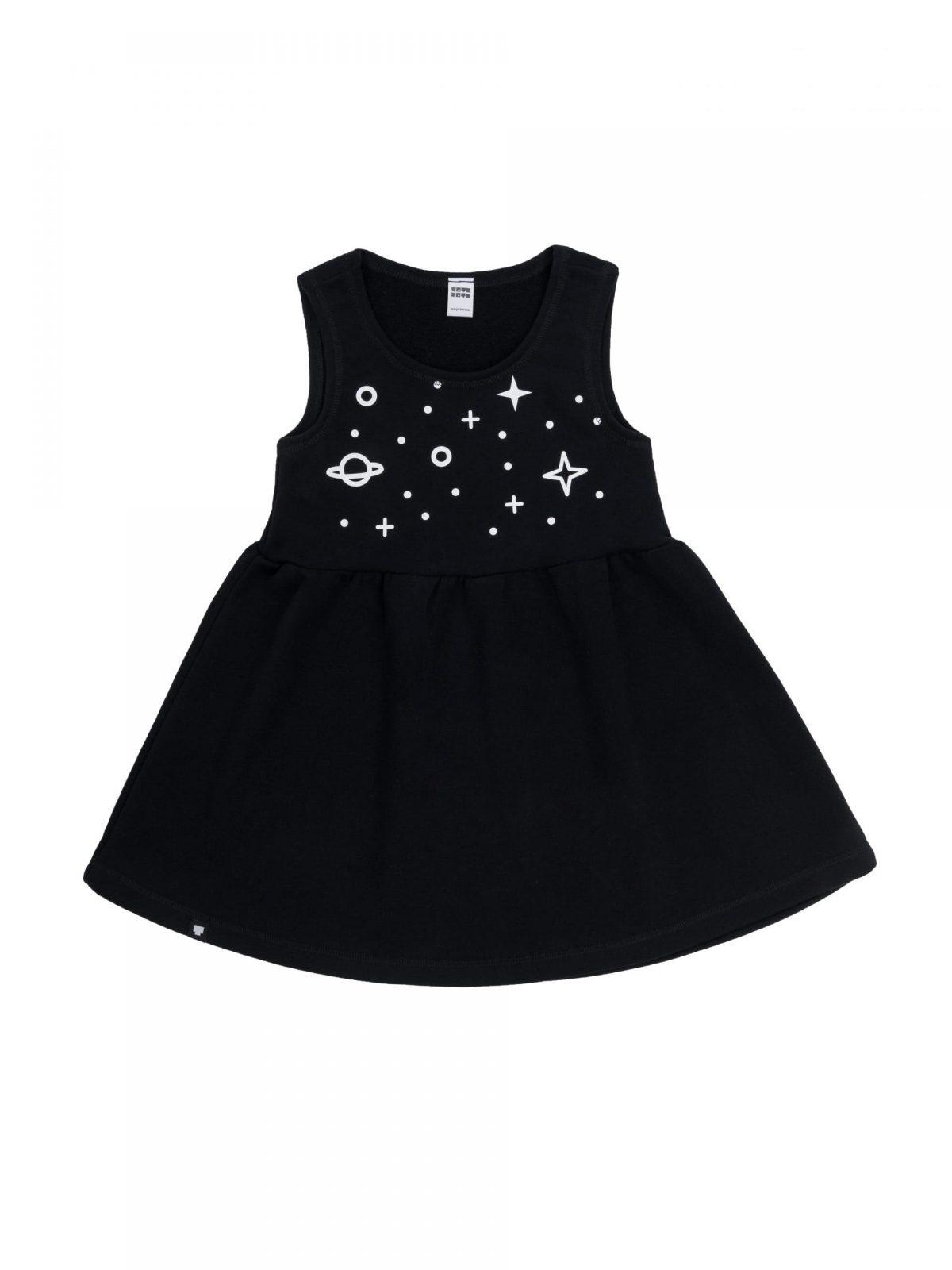 "Детска рокля ""Космос"" без ръкави – Тоте Поте"